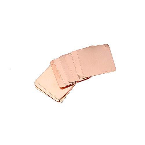 Ningbao 10pcs Barrera térmica de la Almohadilla térmica de calce del disipador de Calor de Cobre Puro para la Tarjeta gráfica portátil 20mm x 20 mm 0.3 mm 0.5 mm 0.8 mm 1.0 mm 1.2 mm