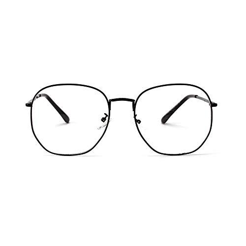 Großer Rahmen, Retro Clear Lens Vintage Geek übergroße Wimpern. Brille (Farbe : Schwarz)