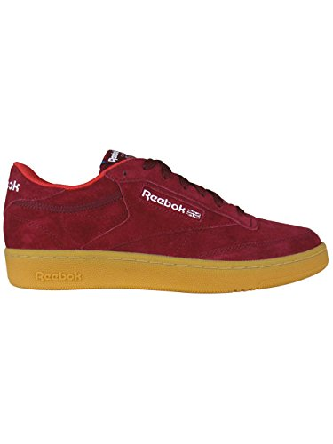 Reebok Club C 85 Indoor Bordeaux Sneakers - Scarpe Da Ginnastica Bordeaux Pelle Scamosciata Bordeaux