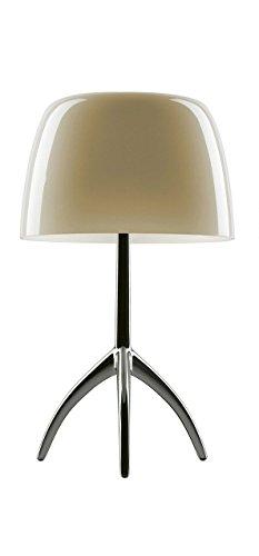 Foscarini Lampe de table Foscarini Lumiere 05 Piccola variateur – Aluminium/Blanc Chaud