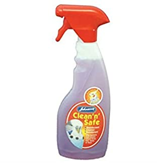 Johnson's Clean and Safe Bird Cage Disinfectant Trigger Spray 500ml Johnson's Clean and Safe Bird Cage Disinfectant Trigger Spray 500ml 316EpSjRRlL