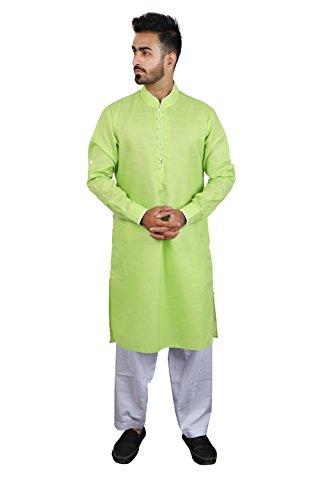 Thaath Men's Green Pathani Kurta Pyjama Set (Eid Collection)