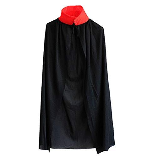 inder Umhang Cape Lange Doppelseitig mit Kapuze Vampir Zauberer Ritter Karneval Cosplay Kostüm ()
