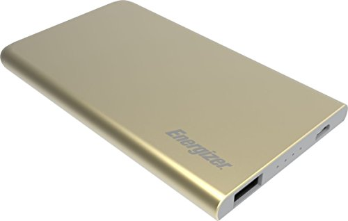 Energizer 4000mAh Mini Powerbank Batería Externa, Cargador Móvil Portátil Carga rápida para Apple iPhone, Huawei, Samsung Galaxy y tabletas como Apple iPad, Galaxy Tab y Muchas más - Oro