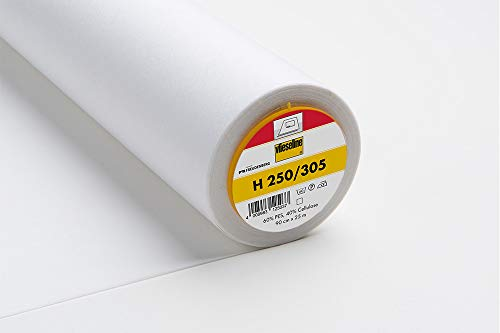 Bügeleinlage Standard H250 fixierbar 90 cm weiß, Preis pro Meter