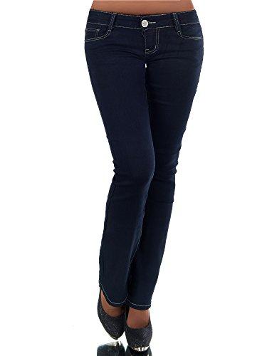 Leder Bootcut Jeans (N511 Damen Jeans Hose Hüfthose Damenjeans Hüftjeans Bootcut Schlag Schlaghose, Farben:Blau;Größen:38 (M))