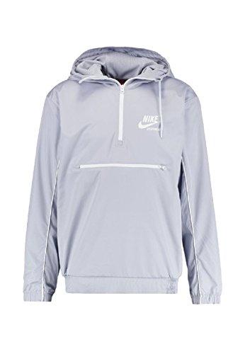 Nike Woven Archive Full Zip Windbreaker (S, grey/white) (Windbreaker Nike)