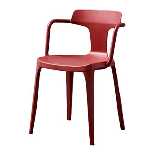 Klappstühle Stuhl Lässig Esszimmerstuhl Rückenlehne Faul Stuhl Weiß Schreibtisch Stuhl Schlafzimmer Make-up Stuhl Computer Stuhl Geschenk (Color : Red, Size : 78 * 45 * 42cm)