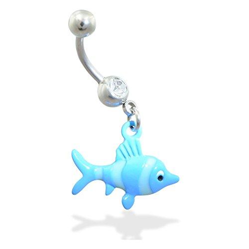 ing blau Fisch (Bauch Ringe, Fische)