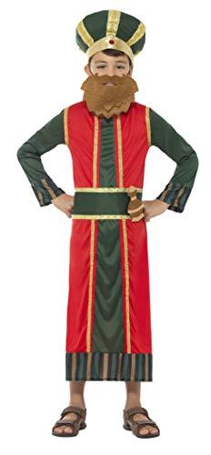 Smiffys Kinder Jungen König Kasper Kostüm, Gewand, Hut, Bart, Gürtel und angebrachte Weihrauch Flasche, Alter: 10-12 Jahre, 48038