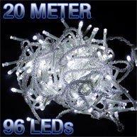 96er LED Strom Lichterkette für außen Lichtfarbe kaltweiss Kabel transparent