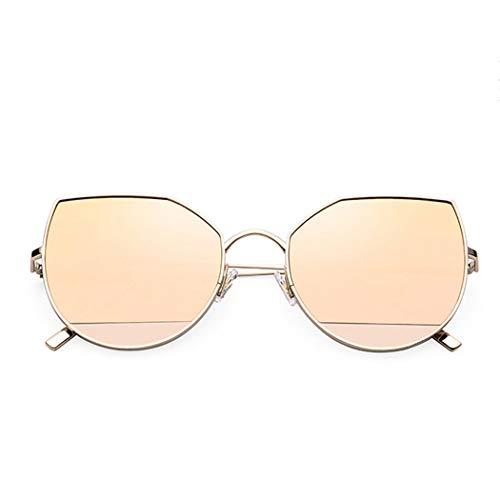 YONGYONG-Sunglasses Ultraleicht Reiner Titan Eye Sonnenbrillen Neue Blaue See Legende Mode Wild Star Tränen Marine Film Sonnenbrille (Color : Gold)