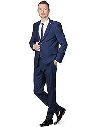Costume Cérémonie Homme boutons décoratifs bleu