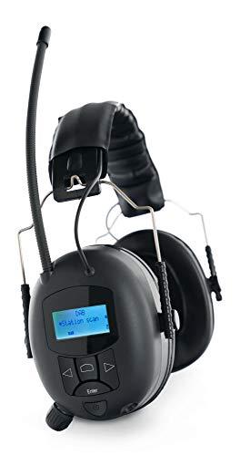 Stagecaptain ContraNoise FMDAB-28B Kapselgehörschützer (Gehörschutz Kopfhörer mit Bluetooth und DAB+ Radio, 28 dB Dämpfung, für Musiker und Arbeiter, schützt perfekt vor Lärm) schwarz