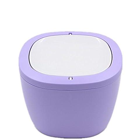 Mülltonnen Mülleimer Creative Desktop Mülleimer Mini Schreibtisch Küche Haushalt Wohnzimmer Schlafzimmer Mülleimer Größe 16 5 * 12 * 12 4cm purple