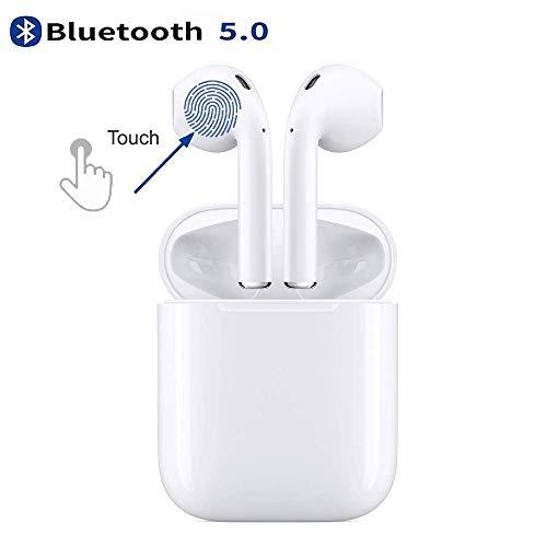 auricolare bluetooth 5.0 auricolare wireless,cuffie antirumore in-ear,ipx5 impermeabile di riproduzione cuffie sportive cvc 8.0 per bassi profondi per android/iphone/airpods/samsung