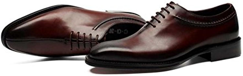 GLSHI Herren Kleid Schuhe Spitze Business Single Schuhe Hochzeit Schuhe Mode Atmosphäre Fruumlhling und Sommer Neu