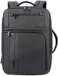 20c5734b72 ZSbag Zaino Uomo Lavoro 35 Litri Grandi Backpack Nylon Durevole Daypack  Multitasche Viaggio Zainetto Unicolor Comodo