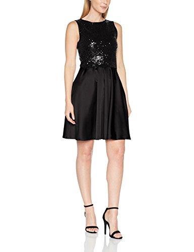 HotSquash Damen Cocktailkleid Prom Party Dress, Schwarz, 44