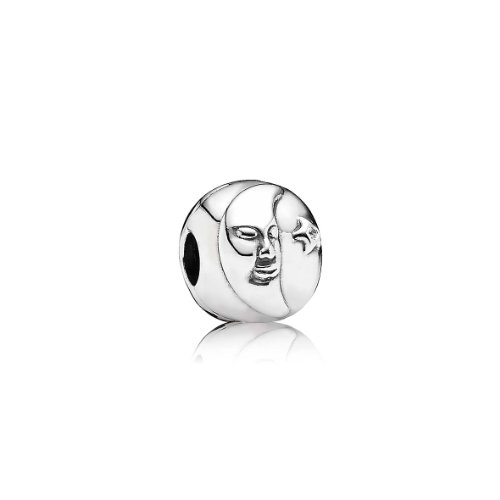 Pandora Damen-Charm 925 Sterling Silber Zirkonia Moments weiß 791208CZ