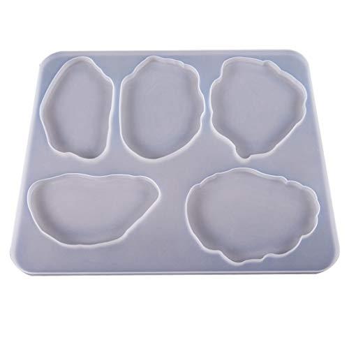 William-Lee Große Tischdekoration, Untersetzer Set, Multi-Standard Cup Mat Silikon Formen DIY Handwerk Kristall Epoxy UV Kleber Form Handwerk