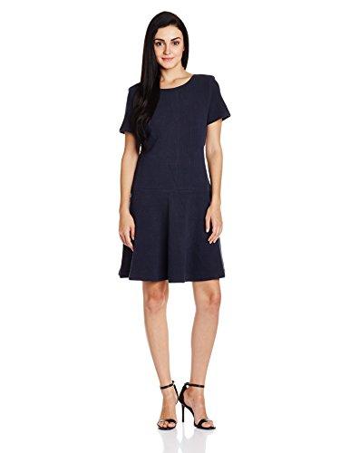 Tommy Hilfiger Womens Cotton Pleated Dress (A6AJV007_Navy Blazer_XS)