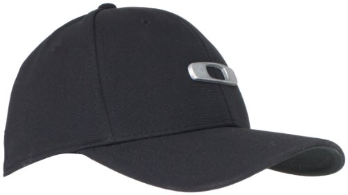 Oakley, Cappello, Nero (Black), (Ricamato Flex Hat Fit)