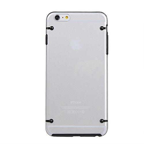 Case Double Color Cover PC ultra-mince TPU lumineux pour l'iPhone 6 Plus noir