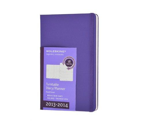 Moleskine Pocket Size 18 2014 Weekly Turntable Notebook - Purple por Moleskine