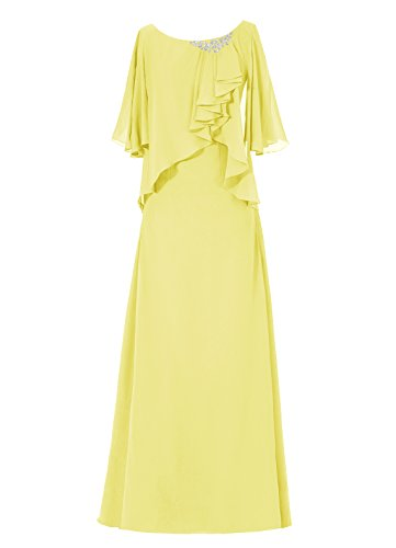 Dresstells, robe longue de mère de mariée, robe de cérémonie, robe de demoiselle d'honneur Jaune