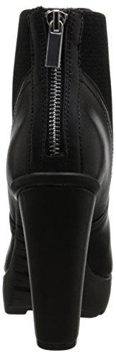 Steve Madden Amandaa Rund Leder Mode-Stiefeletten Black Leather