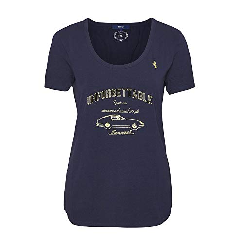 Ferrari Sportscar Vintage GT Racing Damen-T-Shirt, Marineblau XL blau -