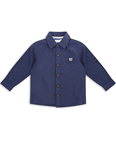 The Essential One - Baby Kinder Jungen Hemd - 6-9 M - Marineblau - EOT183