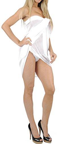Knoten Sarong / eingebaute Binder greifen Badeanzug Bikini Vertuschung Bademode Badeanzug Weiß