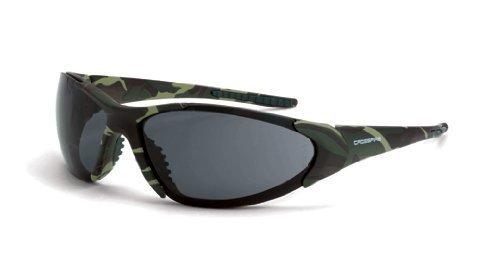 Crossfire 18171Core Grün Camo Rahmen Sicherheit Sonnenbrillen mit Smoke Gläsern von Crossfire