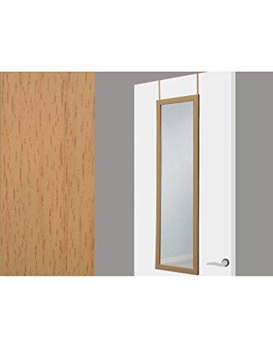 UNIMASA Espejo Puerta Color Madera sin Agujeros