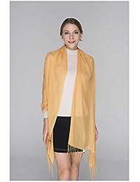 Ygw Primavera, verano, otoño e invierno salvaje bufanda femenina rectangular monocromo de algodón de