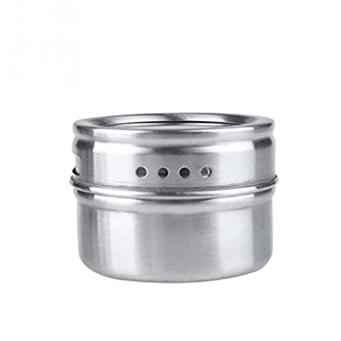 erthome 1PC Stainless Steel Spice Storage Jar Tins Container