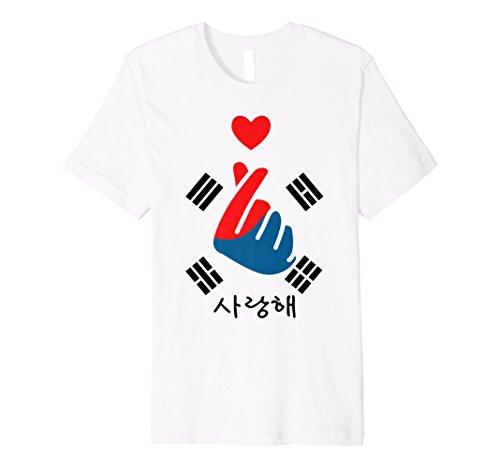 K Kostüm Pop Kinder - saranghae K-POP Finger Herz Koreanisch Love T-Shirt