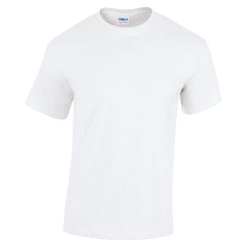 Gildan - T-shirt à manches courtes - Homme (4XL) (Blanc)
