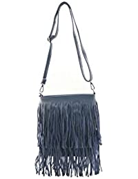 Avaneesh Synthethic Leather Women's Sling Bag In Dark Blue Color