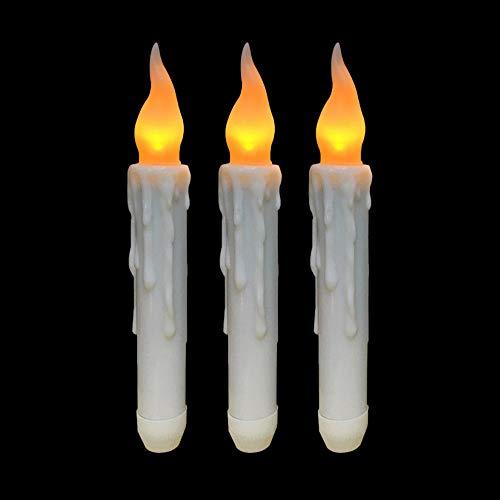 Sujing Homemory batteriebetriebene flammenlose LED-Kerzen, elektrische Kerzen, LED-Fensterkerzen 3PCS