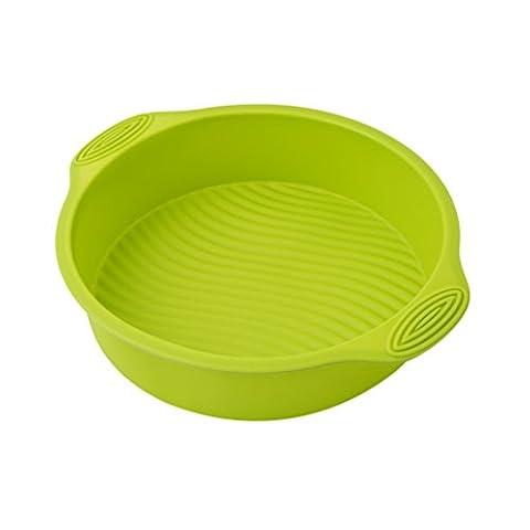 Albeey Rund Kuchenform Silikon Tortenformen Backform, Durchmesser 26cm (Grün)