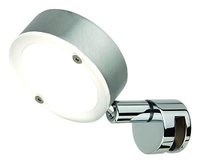 LED-Spiegelleuchte 1er Spot ohne Schalter, Alu matt gebürstet