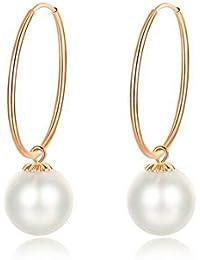 b21a286f5556 Fashion Jewelry  Oro Amarillo Rosa 18 k (750 1000) Perlas Pendientes