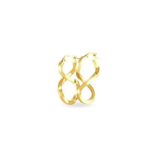Stroili Oro Orecchini a cerchio in oro bianco 9 Kt Referenza 1401031