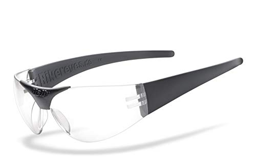 Helly® - No.1 Bikereyes® | H-FLEX®- unzerbrechlich, beschlagfrei, HLT® Kunststoff-Sicherheitsglas nach DIN EN 166 | Bikerbrille | Brillengestell: schwarz matt, Brille: moab 4