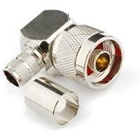 RF Conector N macho enchufe de ángulo recto Crimp Coaxial conector para RG214 RG8 RG213 LMR400