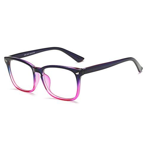 Juleya Brillen für Männer Frauen - Klare Linse Brillengestell + Brillen Fall 1228YJJ02