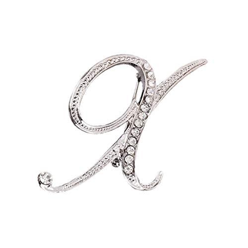 sgeschenken, TTWOMEN 26 Englische Buchstaben Beliebte Haarschmuck Korean Stirnband Diamant Brosche Haarnadel Schmuck 1PC ()